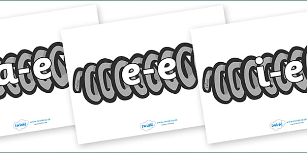 Modifying E Letters on Springs - Modifying E, letters, modify, Phase 5, Phase five, alternative spellings for phonemes, DfES letters and Sounds