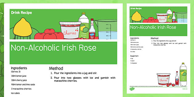 Elderly Care St. Patrick's Day Non Alcoholic Drink Recipe - Elderly, Reminiscence, Care Homes, St. Patrick's Day, memory, remember