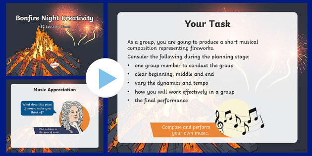 Bonfire Night Creativity Lesson 4 Music PowerPoint