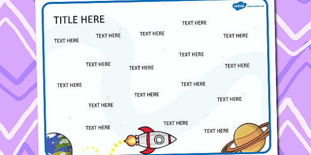 Space Themed Editable Word Mat - literacy, words, writing, mats