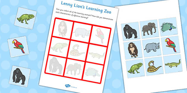 Learning Animals Chart - learning, animals, chart, activity