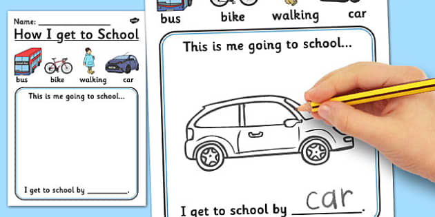 How I Get to School Worksheet - worksheet, how, school, travel