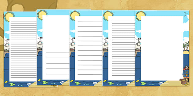 Pirates Decorative Page Border - pirates, page border, decorative