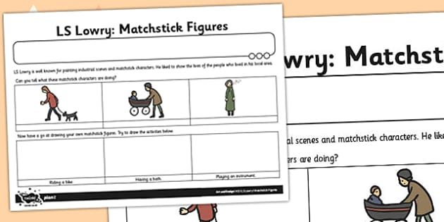 Home Learning Matchstick Figures Activity Sheet - activities, worksheet
