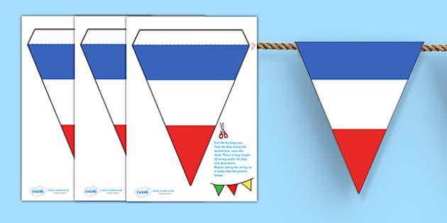 French Flag Bunting -french flag, bunting, bunting with french flags, french bunting, flag bunting, classroom bunting, france bunting, classroom decoration