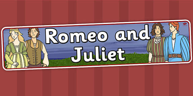 Romeo and Juliet Display Banner - shakespeare, header, display