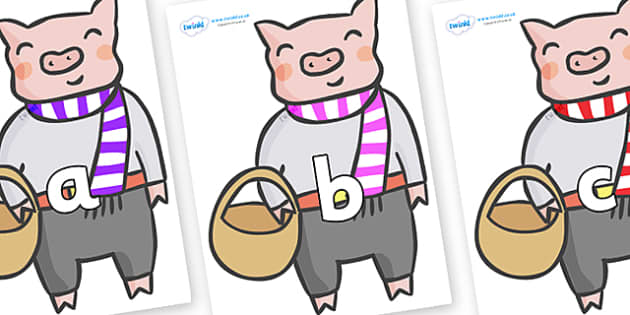 Phase 2 Phonemes on Little Piggy - Phonemes, phoneme, Phase 2, Phase two, Foundation, Literacy, Letters and Sounds, DfES, display