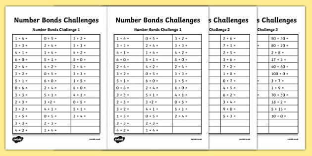 Addition Related Addition And Subtraction Facts Worksheets – 100 Addition Facts Worksheet