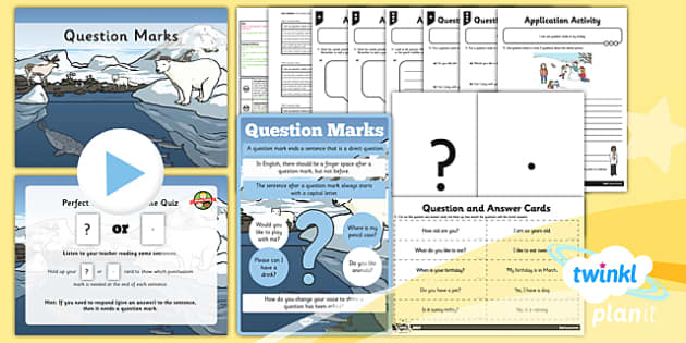 PlanIt Y1 SPaG Lesson Pack: Question Marks - GPS, punctuation, sentence, question, ask, asking, literacy, English, grammar