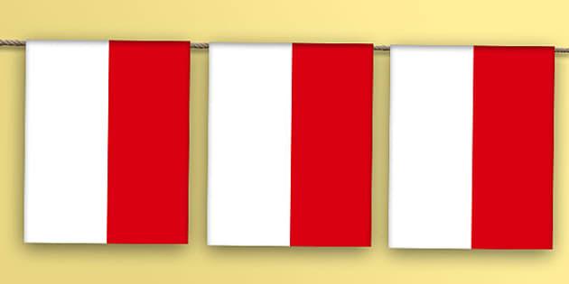 Indonesia Flag Bunting - indonesia flag, indonesia, flag, bunting, display bunting, display