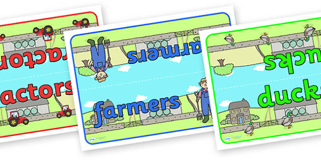 Editable Class Table Group Signs (On the Farm) - Farm, group signs, group labels, group table signs, table sign, teaching groups, class group, class groups, table label