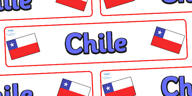 Chile Display Banner - Chile, Olympics, Olympic Games, sports, Olympic, London, 2012, display, banner, sign, poster, activity, Olympic torch, flag, countries, medal, Olympic Rings, mascots, flame, compete, events, tennis, athlete, swimming