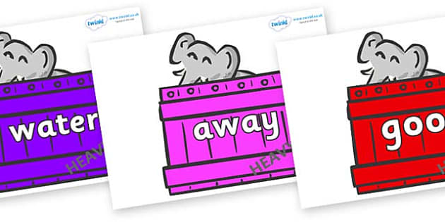 Next 200 Common Words on Elephants (Crates) to Support Teaching on Dear Zoo - Next 200 Common Words on  - DfES Letters and Sounds, Letters and Sounds, Letters and sounds words, Common words, 200 common words