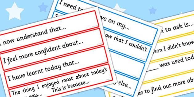 Plenary Cards - card, literacy, writing, aid, visual, visuals
