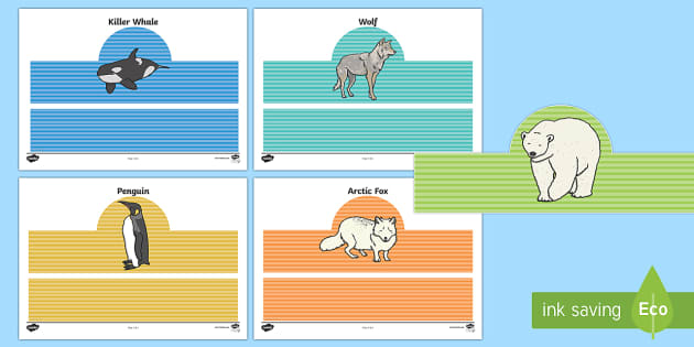 Polar Animals Role Play Headbands - The Arctic, Polar Regions, north pole, south pole, explorers, headbands, role play