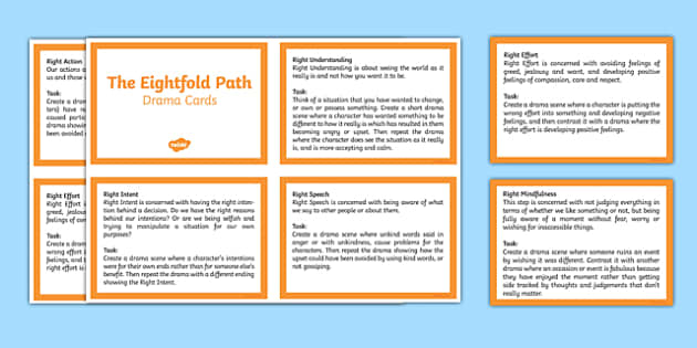 The Eightfold Path Drama Cards