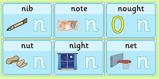 Initial N Sound Playdough Mats - initial n, sound, playdough mats, playdough
