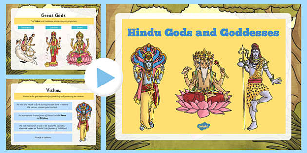 Hindu Gods and Goddesses PowerPoint - hindu, gods, goddesses, powerpoint