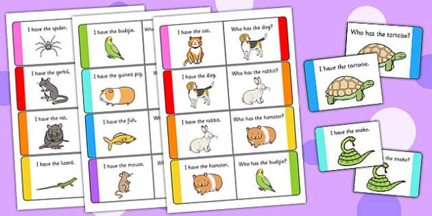 Pets Loop Cards - pets, loop cards, loop, cards, activity, animal