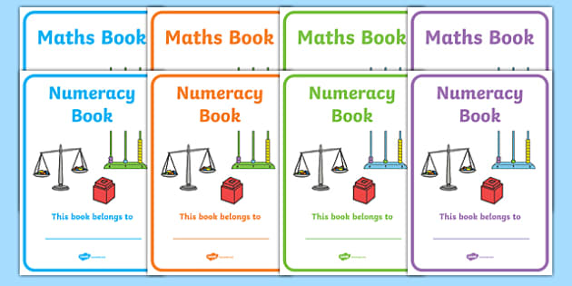 Maths Book Cover - maths, book, cover, book cover, cover page