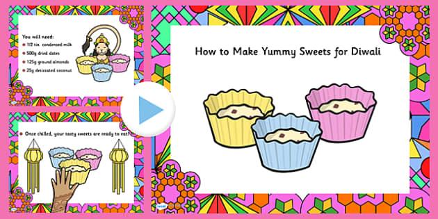 Easy Diwali Sweet Recipe PowerPoint - easy recipe, diwali sweet recipe, diwali, diwali powerpoint, powerpoint, easy sweet recipe powerpoint, diwali recipe