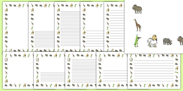 Dancing Giraffe Themed Page Borders Pack - Giraffes, dance, animals, Africa, safari, writing, literacy, frame, template, story, child-initiated,Giraffes Can