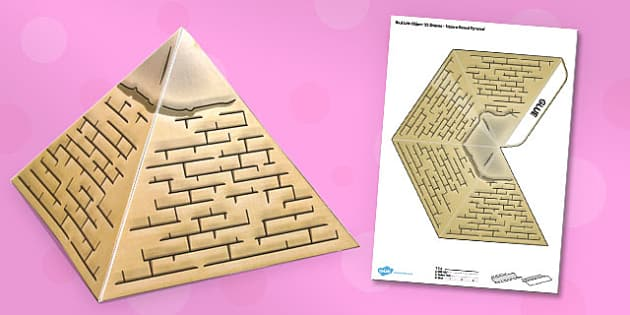 3D Ancient Egyptian Pyramid - 3d, ancient egypt, pyramid, ancient, egypt, model, craft, paper