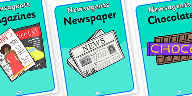 Newsagents Role Play Posters - newsagents, role play, posters, newsagents posters, role play posters, newsagents role play, posters for newsagents