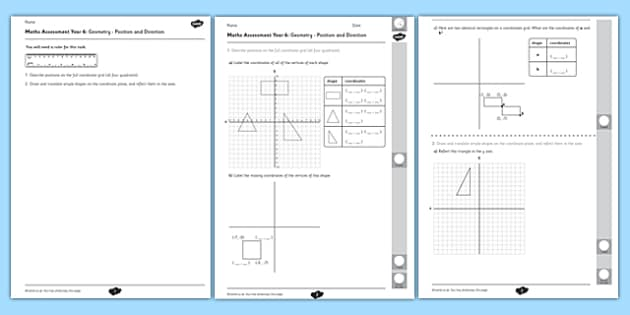 Year 6 Maths Assessment: Geometry - Position and Direction Term 1 - maths
