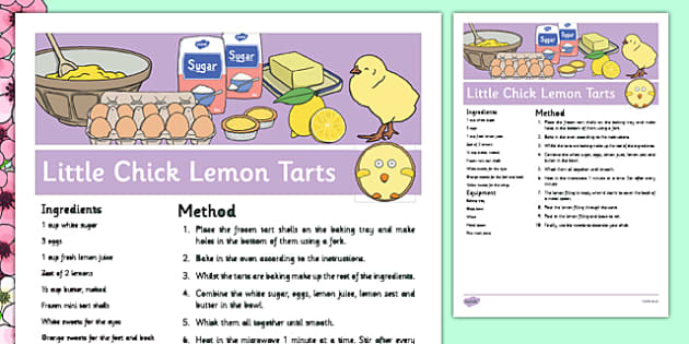 Little Chick Lemon Tarts Recipe - cooking, food, spring, eyfs, little chick, lemon tarts