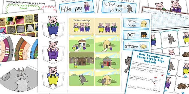 The Three Little Pigs Lapbook Creation Pack - australia, lapbooks