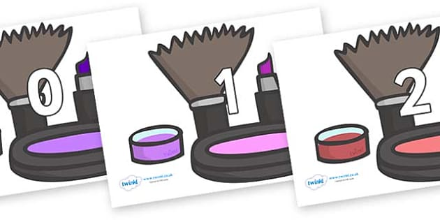 Numbers 0-31 on Make Up - 0-31, foundation stage numeracy, Number recognition, Number flashcards, counting, number frieze, Display numbers, number posters