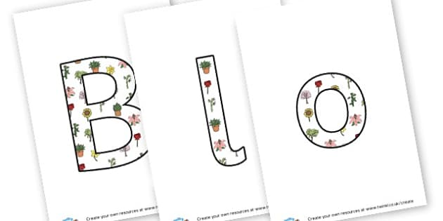 Blooming Marvellous - display lettering - Display, Gardening Clubs, Extra Curricular, Primary Resources