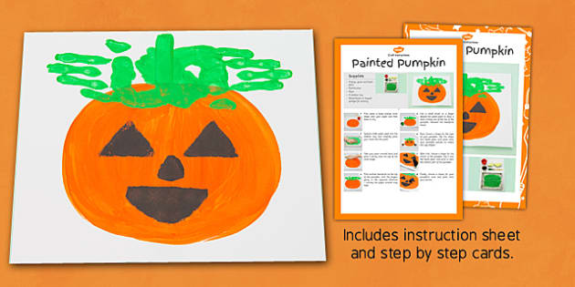 Painted Pumpkins Craft Instructions - EYFS, Halloween, pumpkin, paint