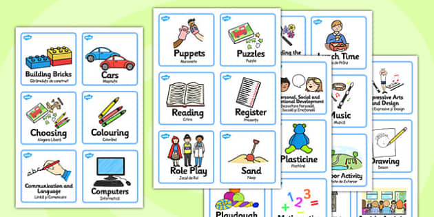 Visual Timetable Nursery FS1 Romanian Translation - romanian
