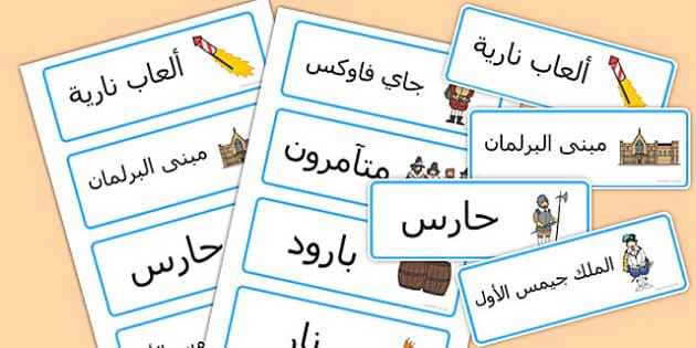 بطاقات كلمات مؤامرة البارود - مؤامرة البارود، موارد تعليمية