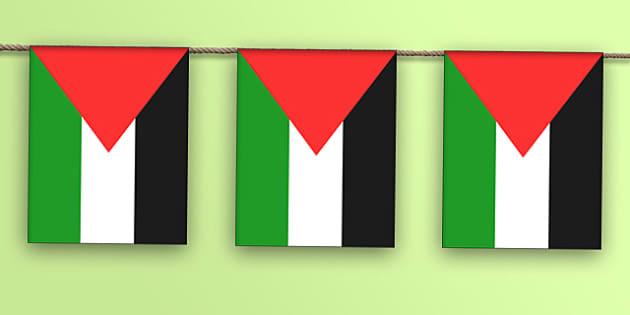 Palestine Flag Bunting - palestine flag, display bunting, display, bunting, palestine, flag
