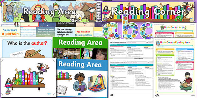 Reading Corner Area Display Pack EYFS - reading corner, area, display