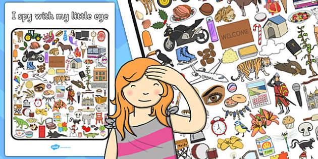 I Spy With My Little Eye Activity 3 - activity, I spy, game