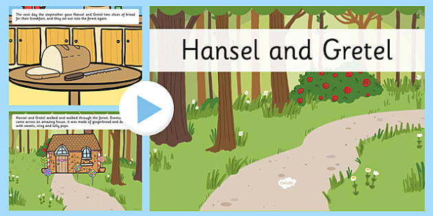 Hansel and Gretel Story PowerPoint - hansel and gretel, storybook