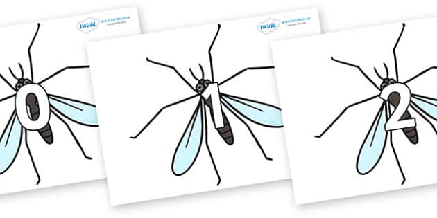 Numbers 0-100 on Crane Flies - 0-100, foundation stage numeracy, Number recognition, Number flashcards, counting, number frieze, Display numbers, number posters