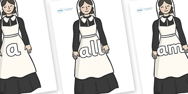 Foundation Stage 2 Keywords on Florence Nightingale - FS2, CLL, keywords, Communication language and literacy,  Display, Key words, high frequency words, foundation stage literacy, DfES Letters and Sounds, Letters and Sounds, spelling