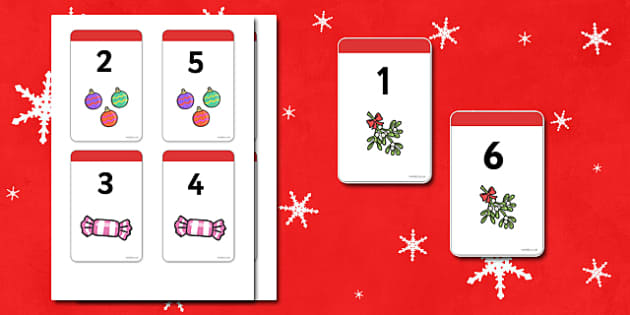 Christmas Number Bonds to 7 Matching Cards - Number Bonds, Matching Cards, Clothing Cards, Number Bonds to 7, Christmas, xmas, tree, advent, nativity, santa, father christmas