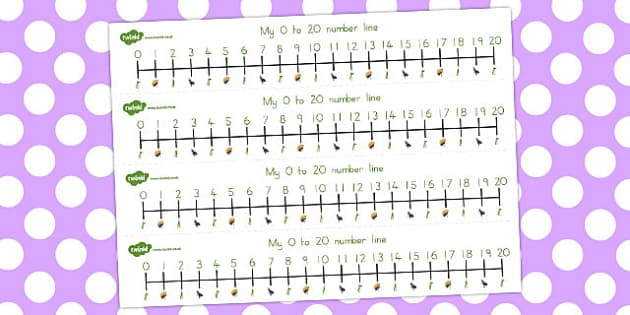 The Ant and the Grasshopper Number Lines 0-20 - numbers, numeracy