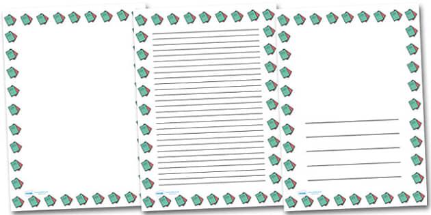 Exercise Books Portrait Page Borders- Portrait Page Borders - Page border, border, writing template, writing aid, writing frame, a4 border, template, templates, landscape