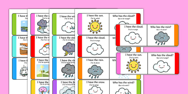Weather Loop Cards French Translation