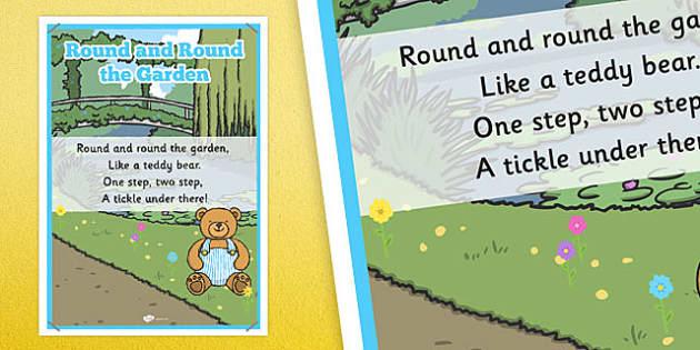 Round and Round the Garden Rhyme Poster - round, garden, rhyme