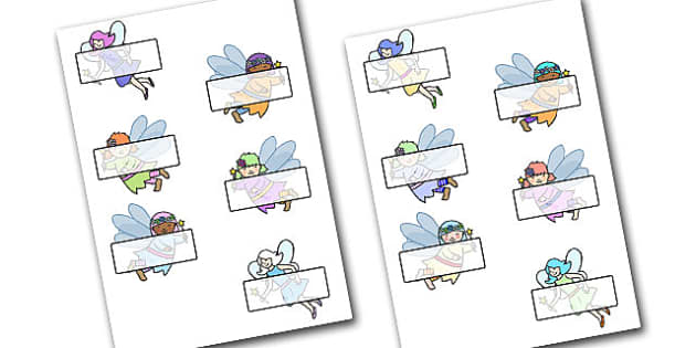 Editable Self Registration Labels (Fairies) - Fairies, Fairy, topic, fantasy, display, editable, label, fairy display