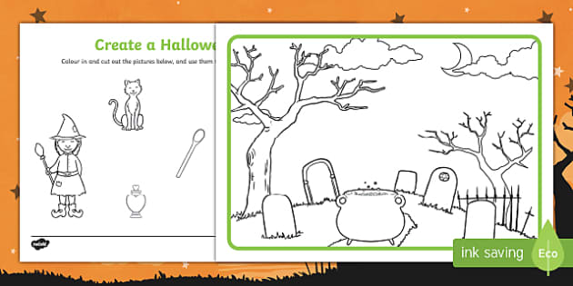 Create a Halloween Scene Activity