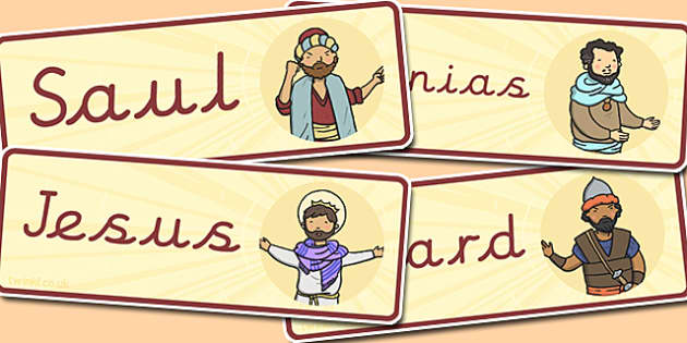 The Conversion of Saul Word Cards - visual, aids, literacy, words